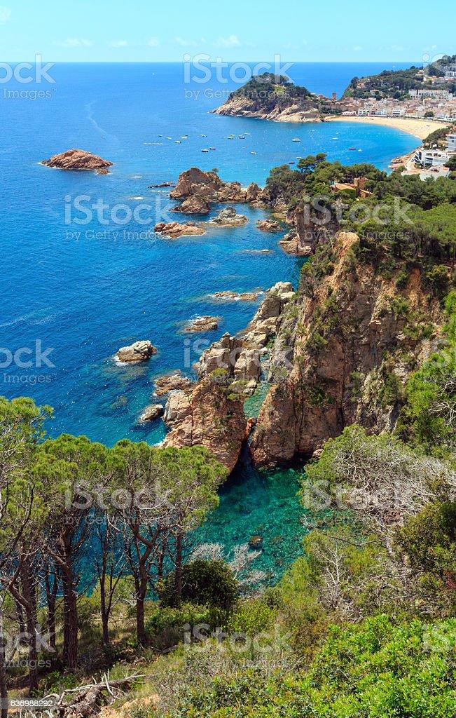 Tossa de Mar town coast (Spain). – Foto