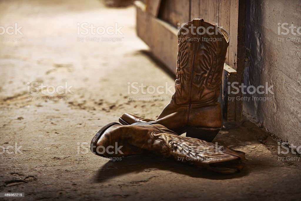 Tossed aside after a long day stock photo
