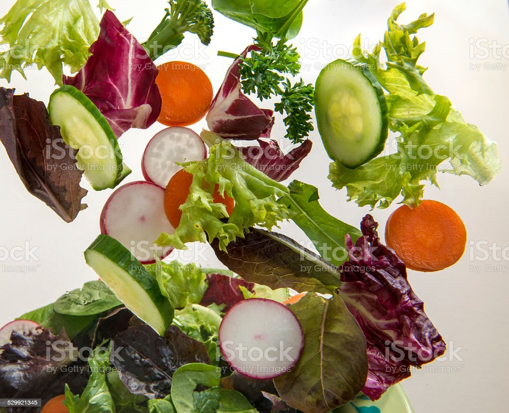 Tossed fresh salad stock photo