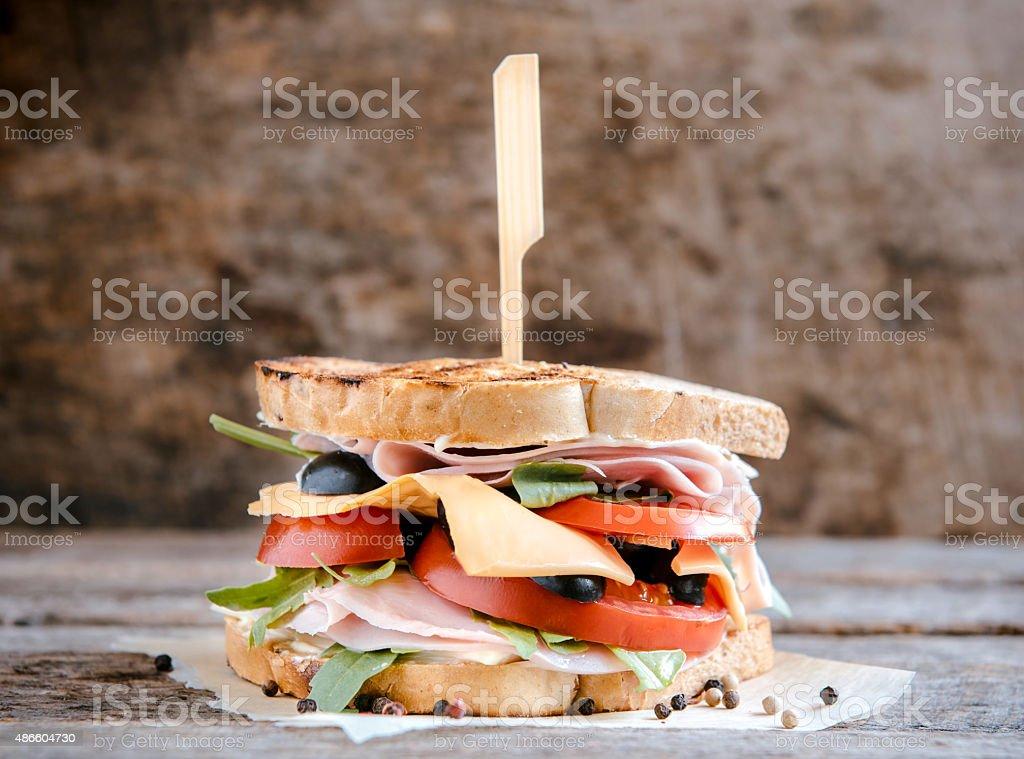 Tost sandwich stock photo
