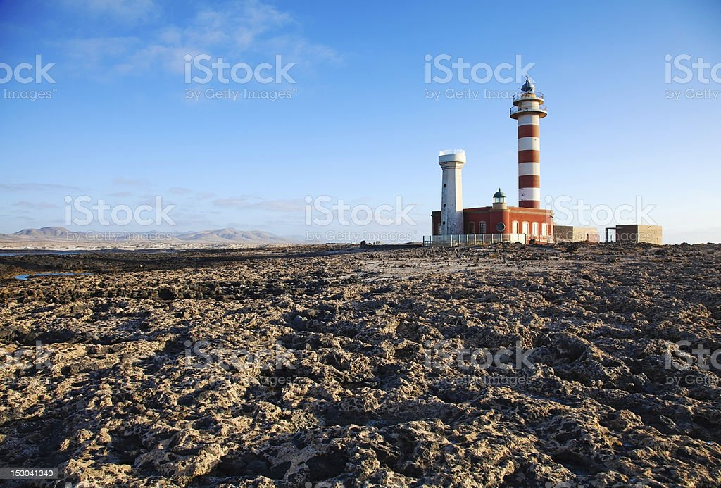 Toston lighthouse, El Cotillo, Fuerteventura royalty-free stock photo