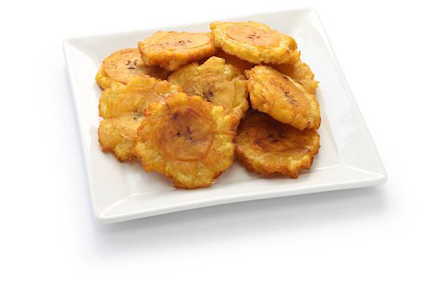 tostones, 튀긴 그린 플렌틴 바나나 바나나 칩 - 플렌틴 바나나 뉴스 사진 이미지