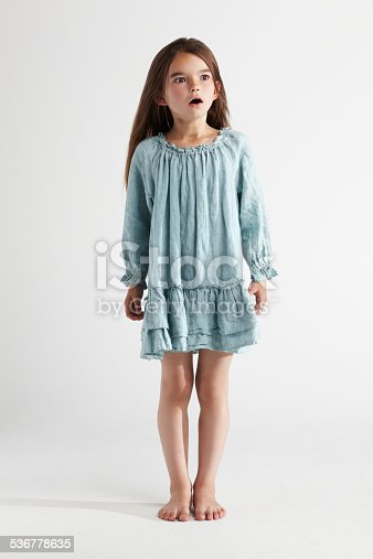 Full-length studio shot of a little girl looking surprisedhttp://195.154.178.81/DATA/istock_collage/438869/shoots/782555.jpg