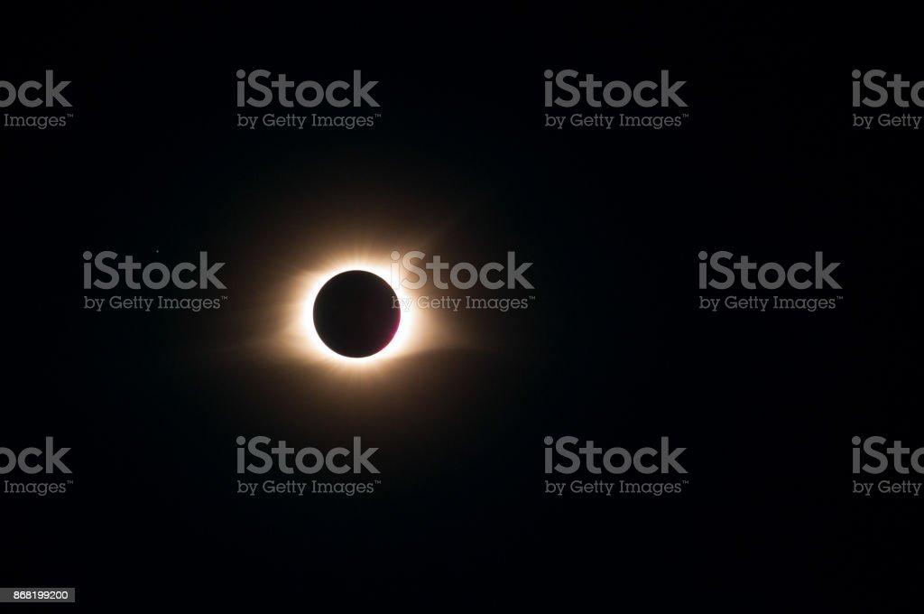 Total eclipse 2017 stock photo