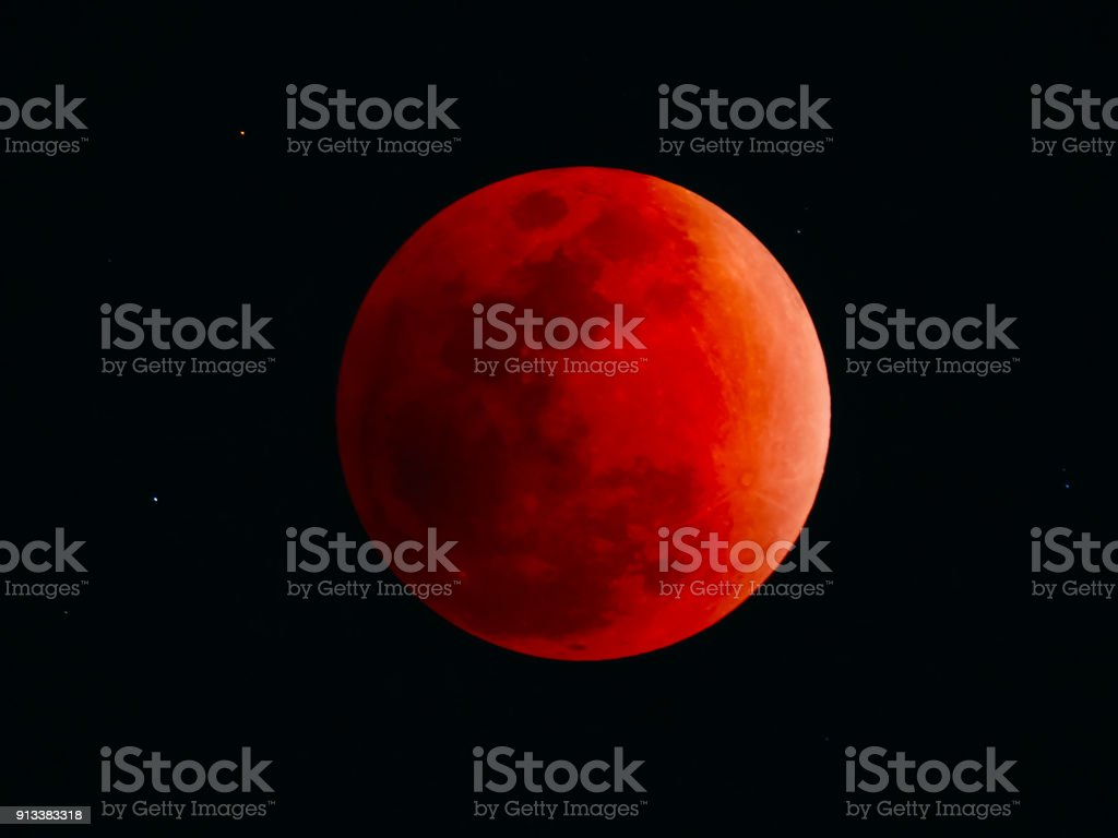 Total eclipse of the moon stock photo