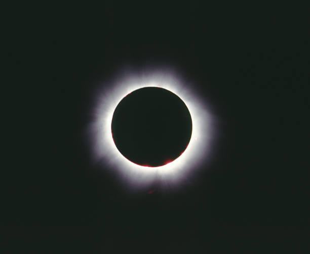 Total eclipse of the sun, Hungary 1999 stock photo
