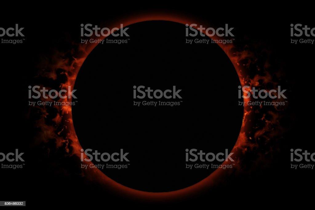 Totale verduistering van de zon foto