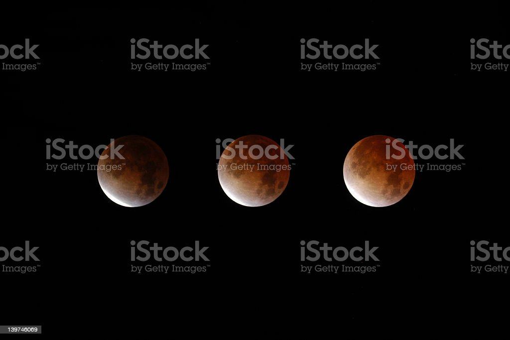 Total Lunar Eclipse stock photo