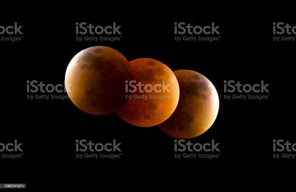 Totale Mondfinsternis Sequenz voll Blut-Mond – Foto