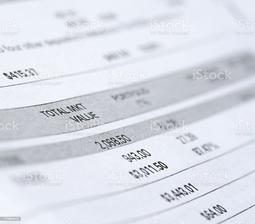 Total Market Value royalty-free stock photo