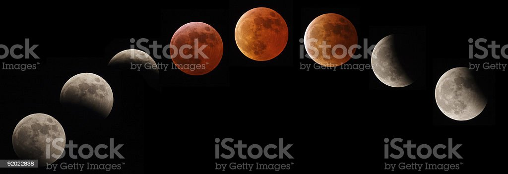Eclisse totale di luna royalty-free stock photo
