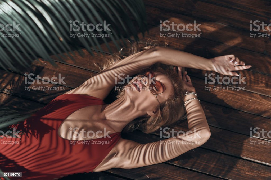 Total relaxation. royalty-free stock photo