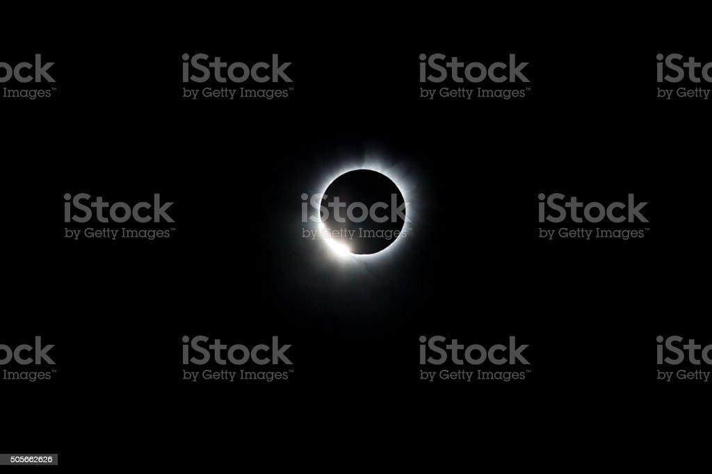 Total Solar Eclipse Diamond Ring stock photo