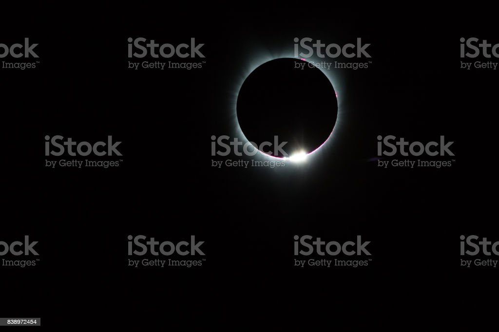 2017 Total Solar Eclipse in the United States of America stock photo
