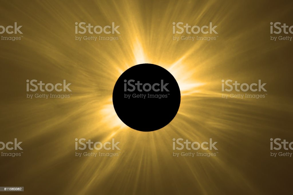 Total Solar Eclipse. stock photo