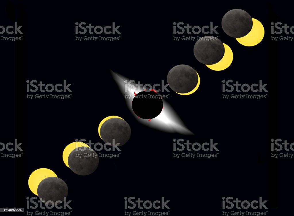 total solar eclipse stock photo