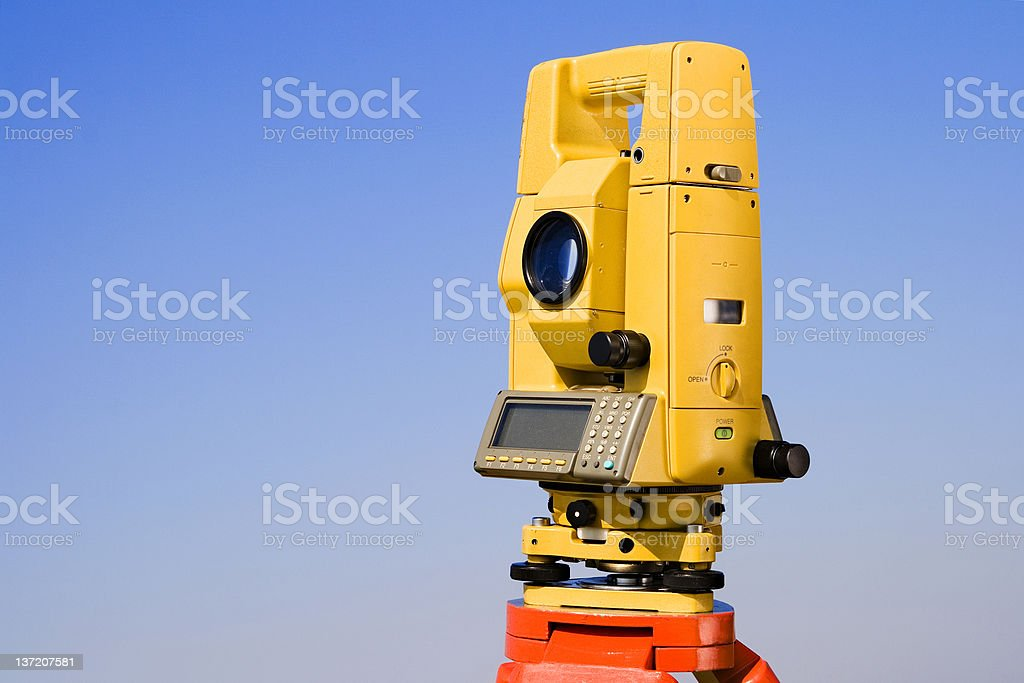 Total station royalty-free stock photo