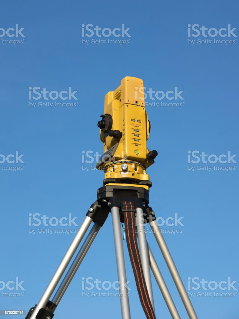 Total Station stock photo