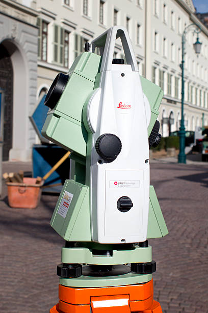 Total station, Tachymeter stock photo