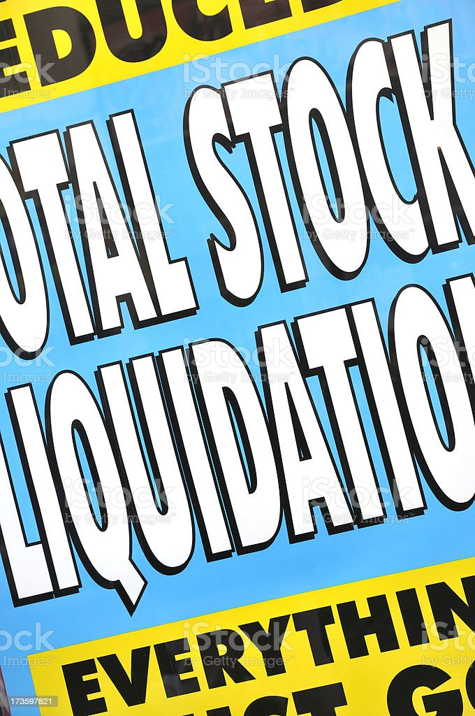 Total stock liquidation royalty-free stock photo
