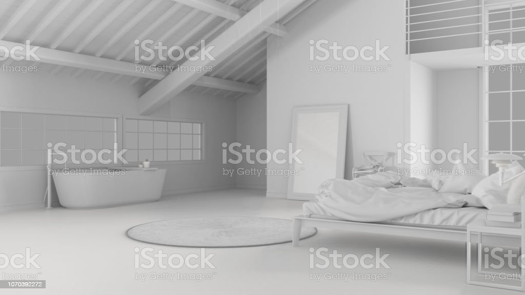 Photo libre de droit de Total Du Projet Despace Ouvert Loft Avec ...