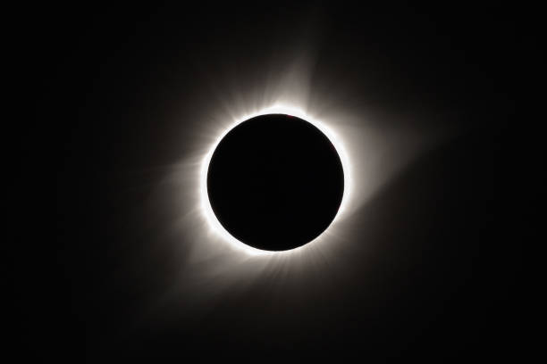 Totality during the 2017 Total Solar Eclipse stock photo