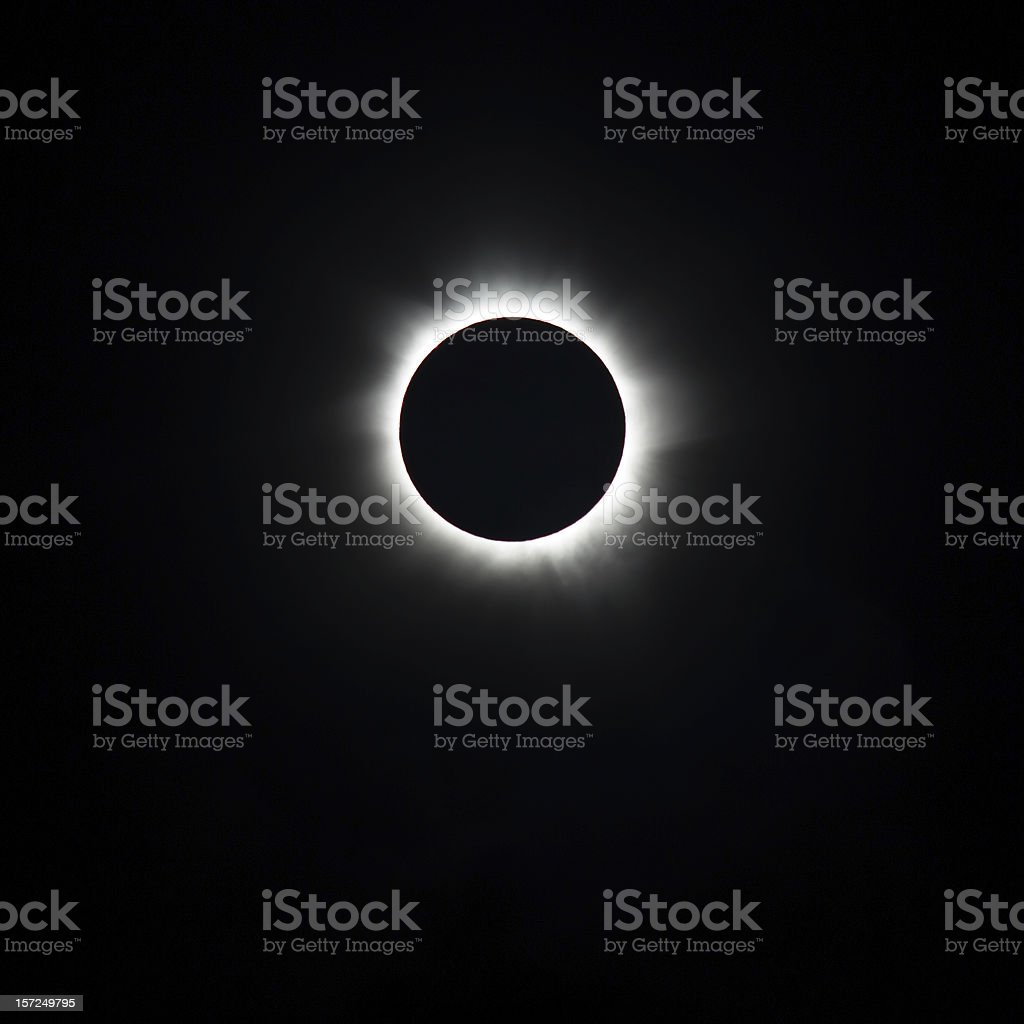 Totality, Total Solar Eclipse stock photo