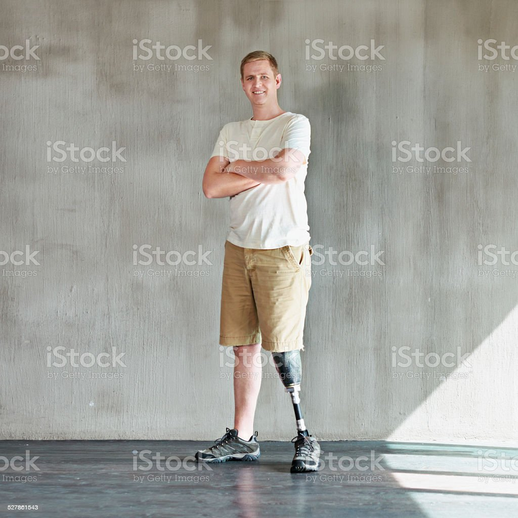 Totally abled stock photo