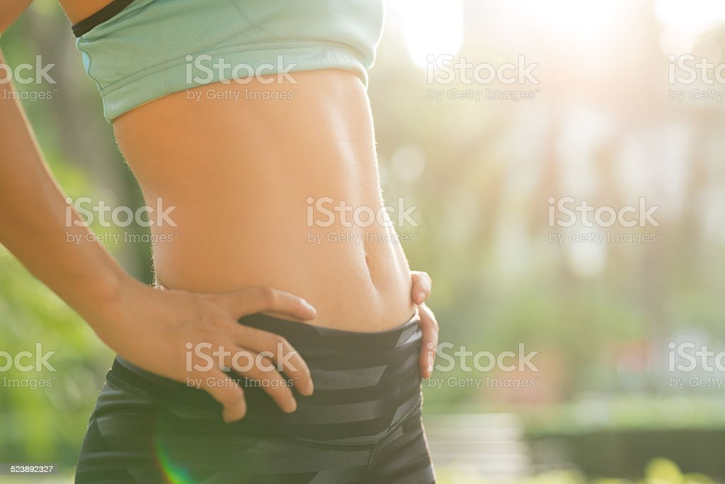 Totally fit stock photo