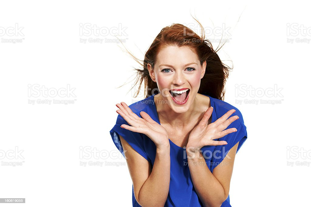 Totally psyched royalty-free stock photo