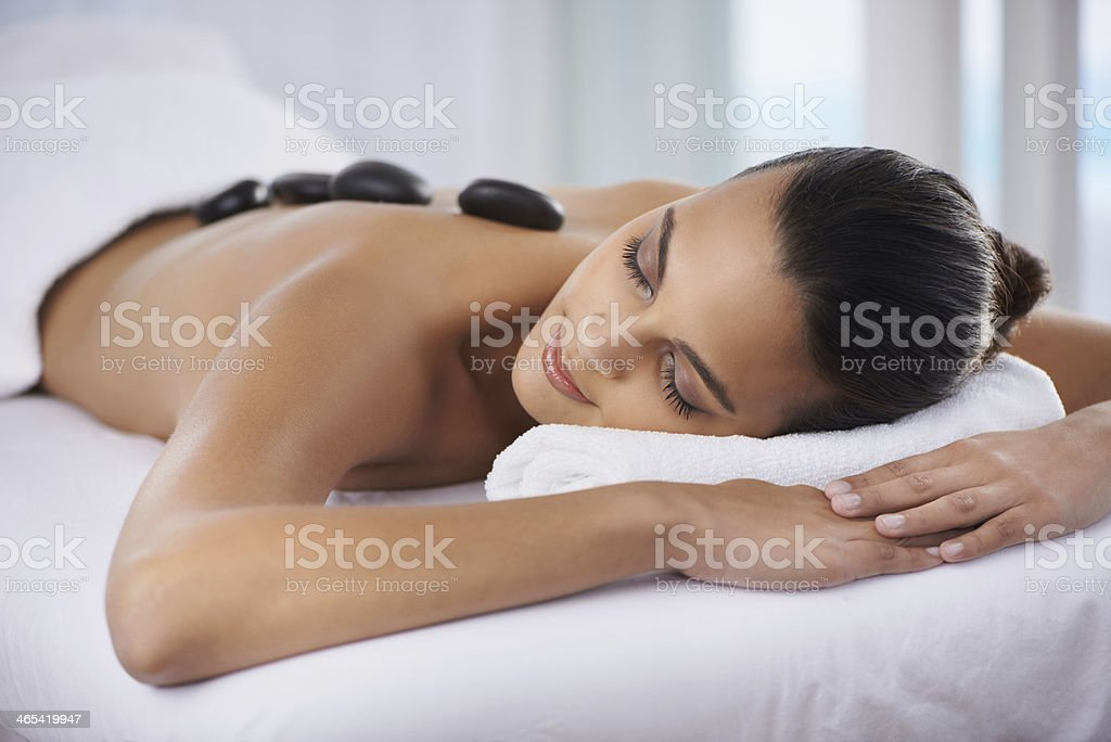 Totally relaxed stock photo