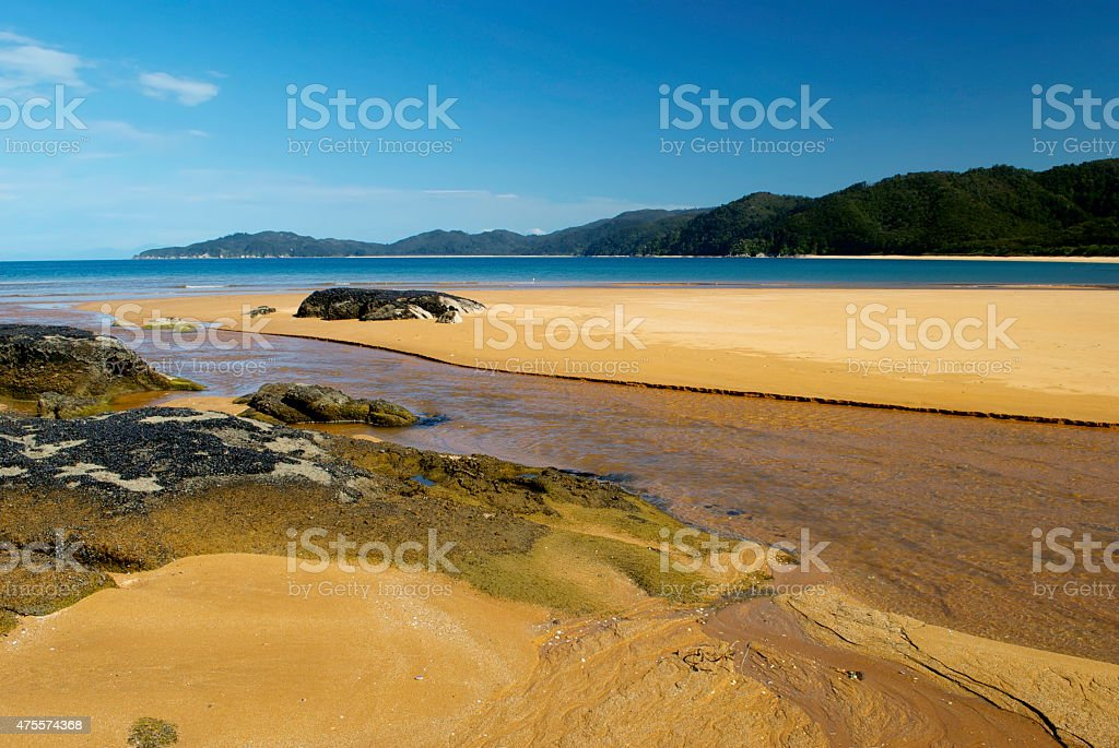 Totaranui Estuary, Abel Tasman National Park, New Zealand stock photo