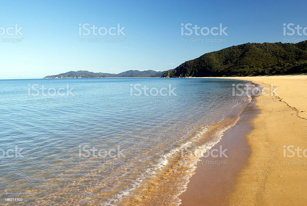 Totaranui Seascape, Abel Tasman National Park, New Zealand stock photo