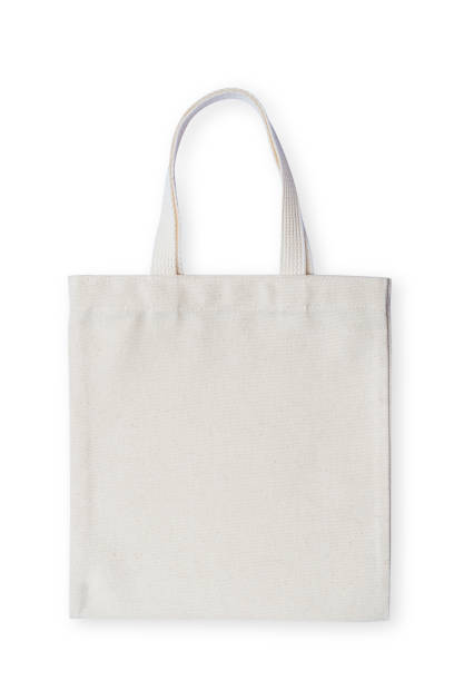 tote tas stof doek zak mockup geïsoleerd op een witte achtergrond (uitknippad) winkelen - zak tas stockfoto's en -beelden