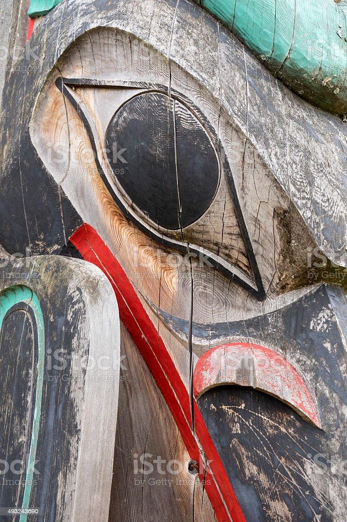 Totem Close Up stock photo