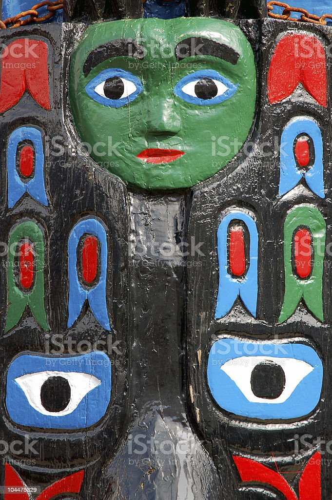 totem colorful royalty-free stock photo