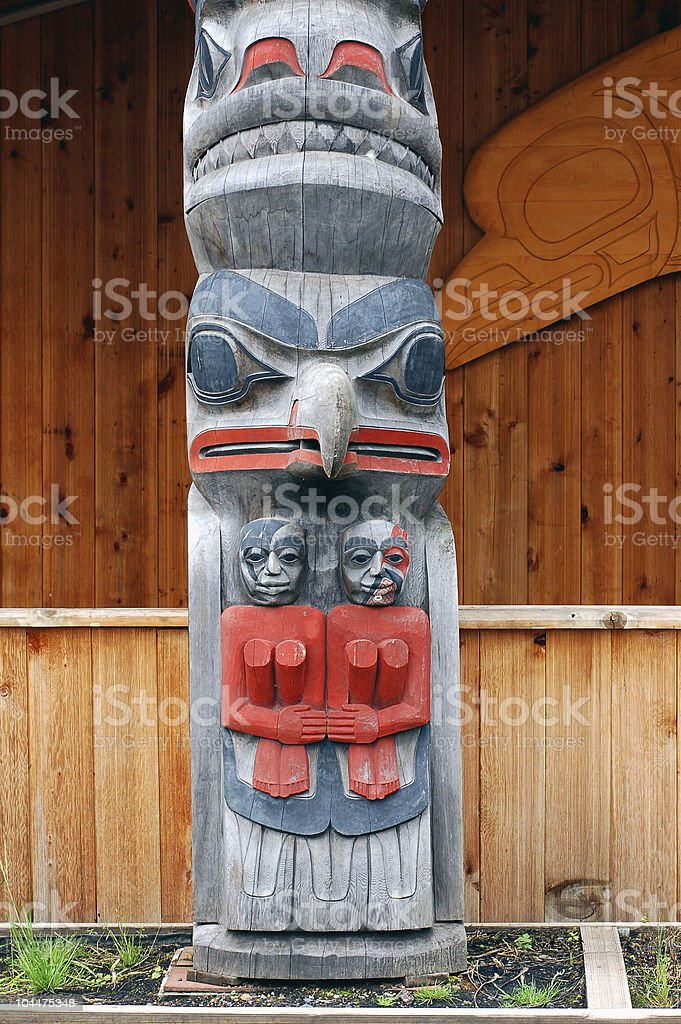 totem icy straight stock photo