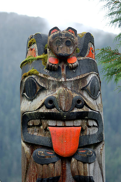 totem  ketchikan stock pictures, royalty-free photos & images