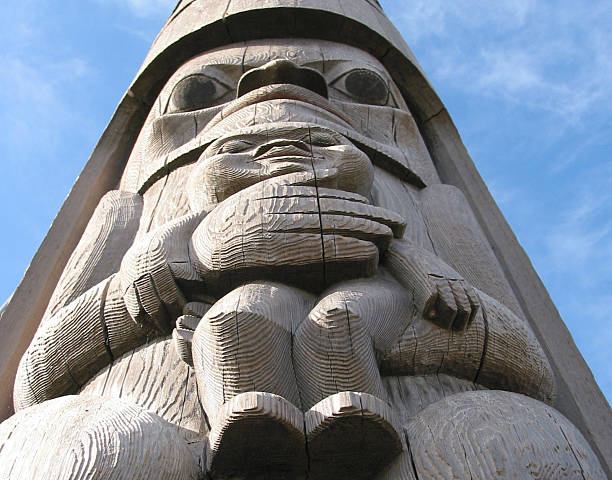 Totem Pole Detail, Landscape Orientation