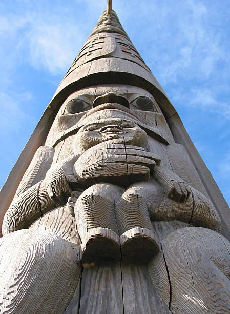 Totem Pole Detail, Portrait Format