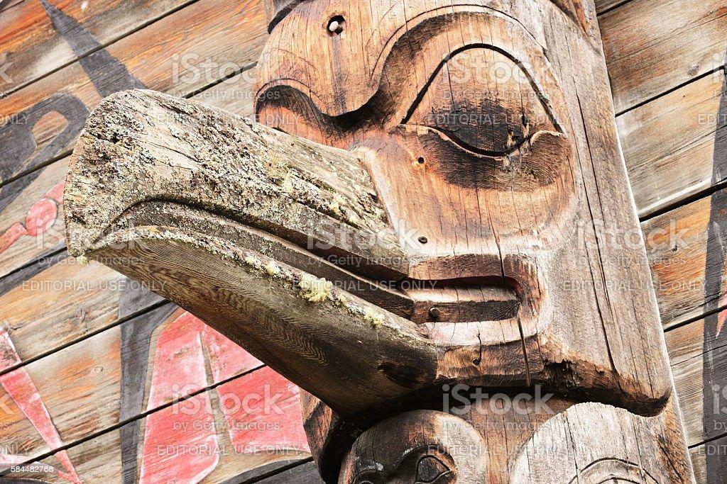 Totem Pole Eagle Gitanyow Band Council stock photo