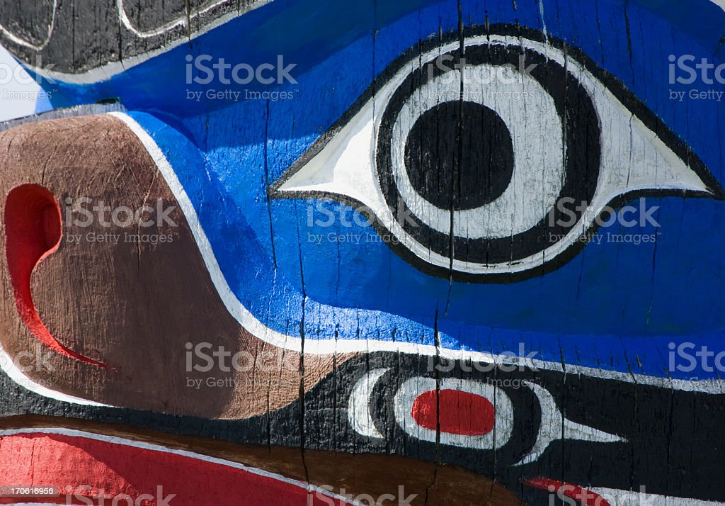 Totem Pole in Victoria, B.C. Canada royalty-free stock photo