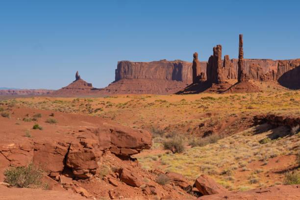 Totem Pole, Monument Valley, Arizona-Utah Grenze, in einem Navajo Nation Reservation. Usa – Foto