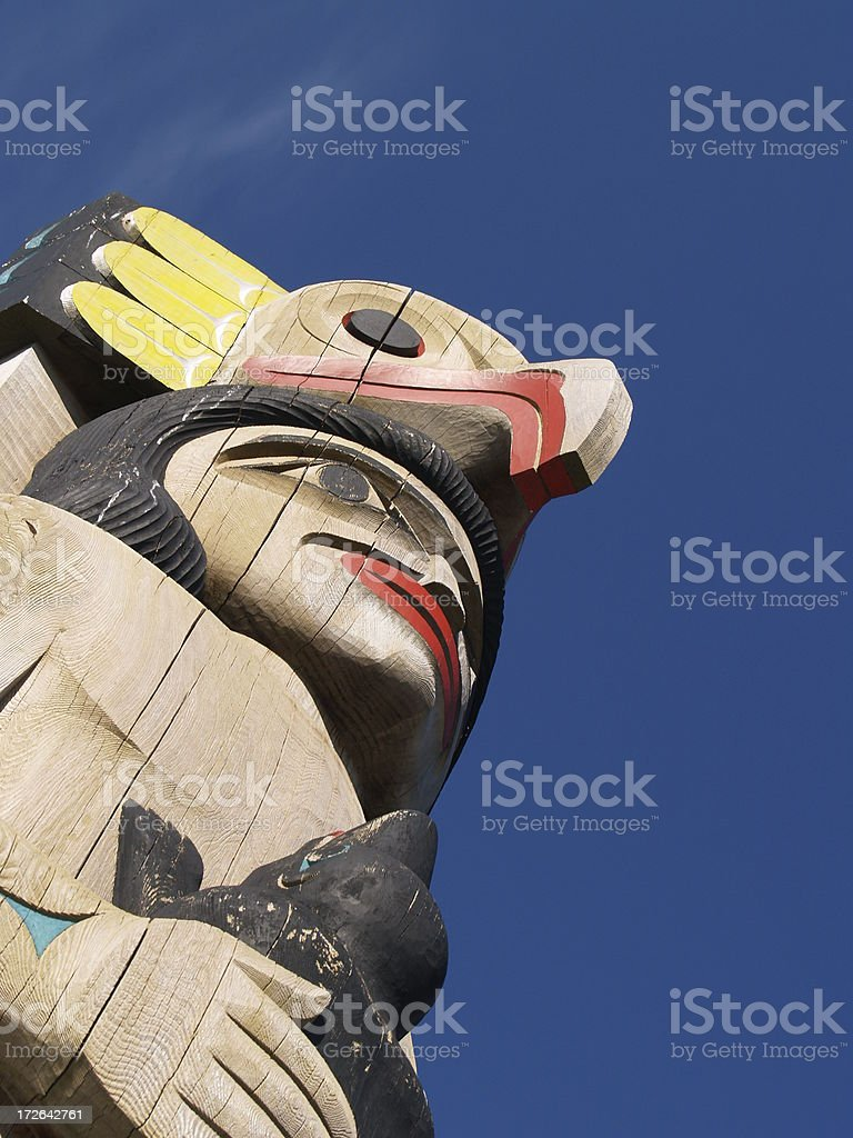 Totem, Vancouver BC stock photo