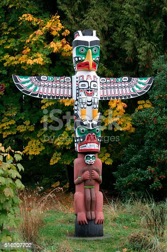 Firt Nation Totem, Vancouver, Britih Columbia, Canada