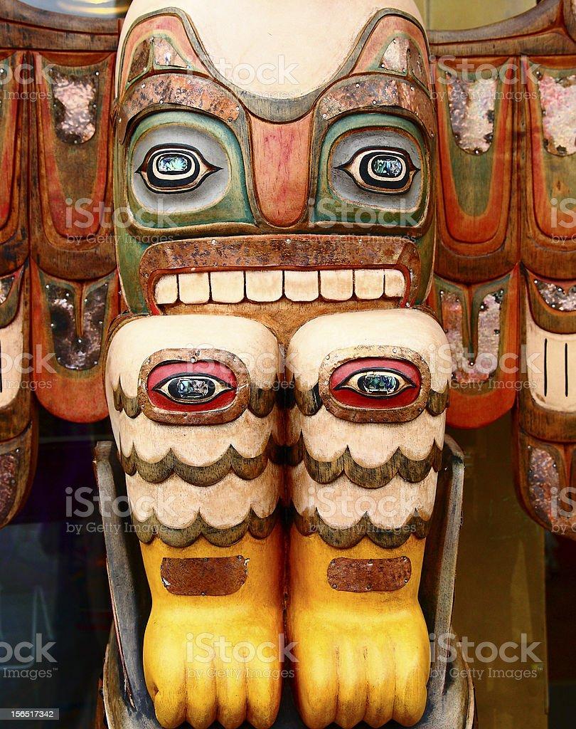 Totem with Many Eyes stock photo