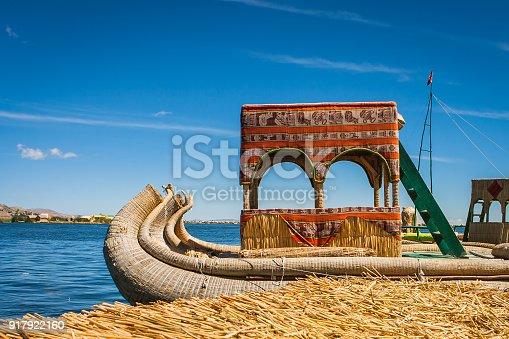 istock Totora boat at the Uros island, Titicaca Lake, Peru 917922160