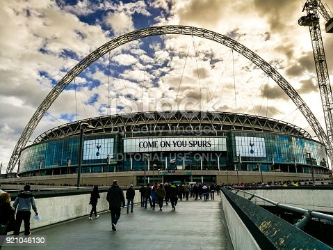 istock Tottenham Hotspur supporters walking on Wembley Way, London, UK 921046130