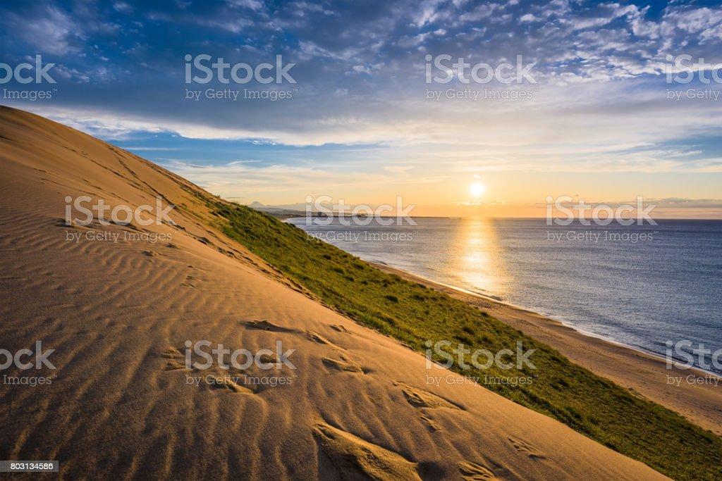 Tottori, Japan Sand Dunes stock photo