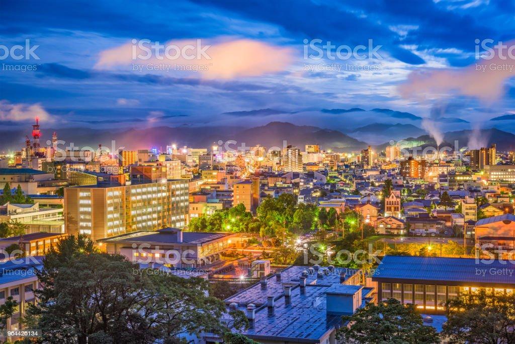 Horizonte de Tottori Japão - Foto de stock de Apartamento royalty-free
